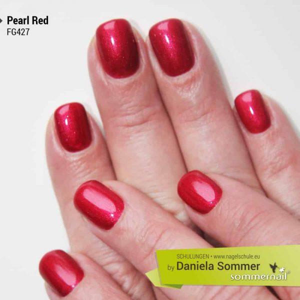 Farbgel Pearl Red