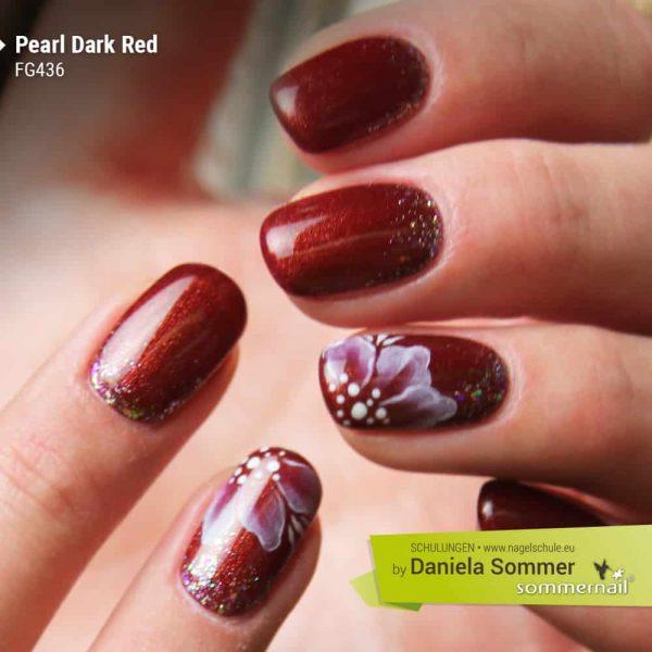Farbgel Pearl Dark Red