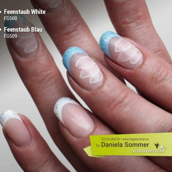 Farbgel Feenstaub White, Blau