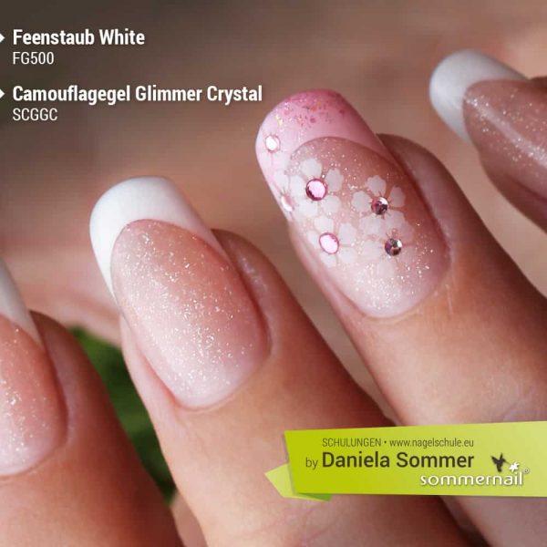 Farbgel Feenstaub White, Camouflage Glimmer Crystal