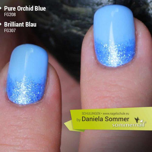 Farbgel Pure Orchid Blue + Brilliant Blau