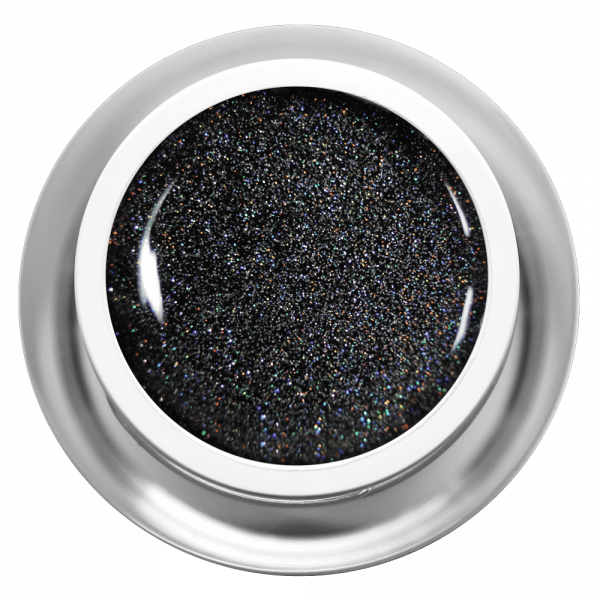 Farbgel Black Multiglitter