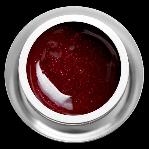 Farbgel Glimmer Dark Red