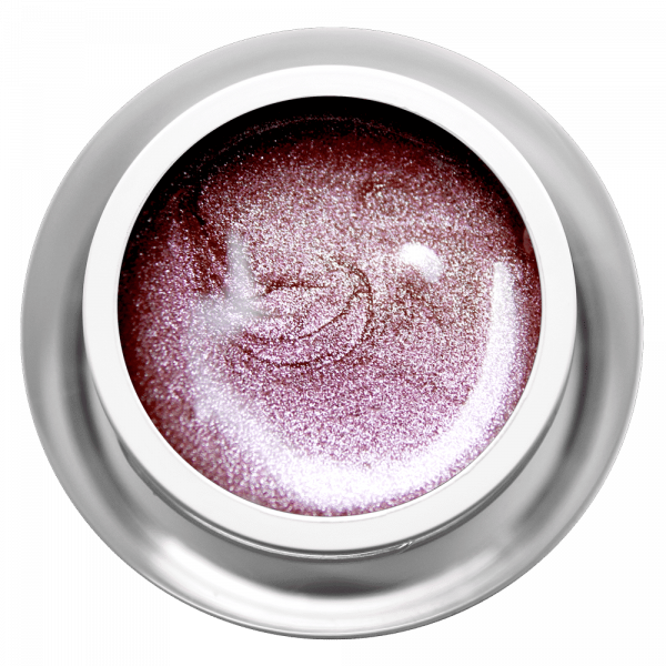 Farbgel Glimmer Aubergine