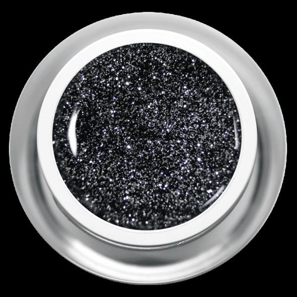 Farbgel Glitter Black Silver