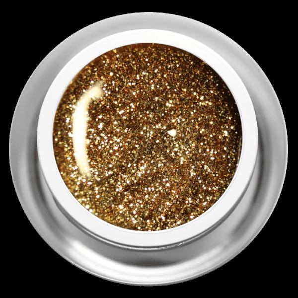 Farbgel Glitter Golden Sand