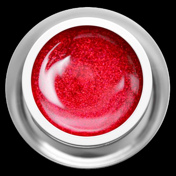 Farbgel Glitter Glamour Red
