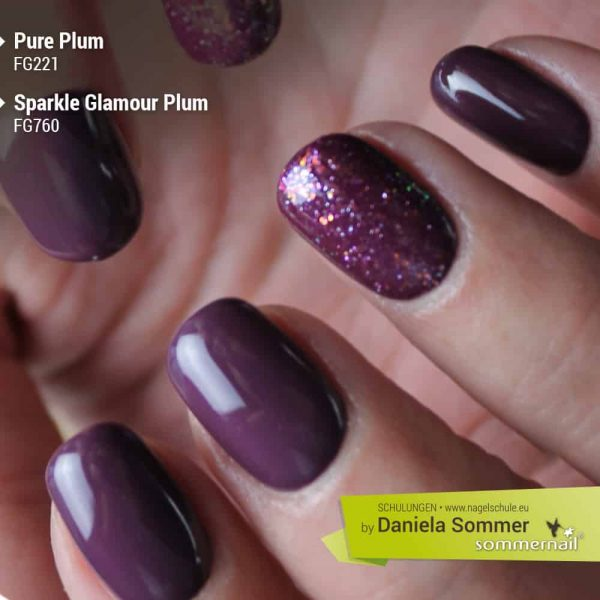 Farbgel Pure Plum, Farbgel Sparkle Glamour Plum